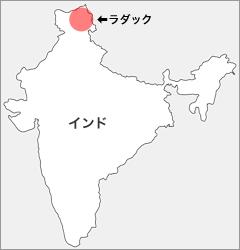 インド・ラダック地図